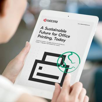 A sustainable future for office printing, today